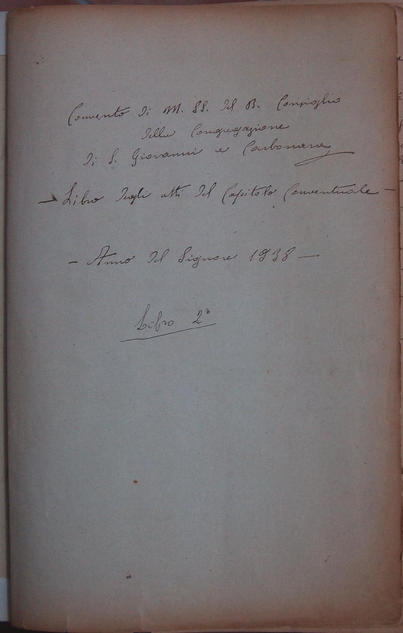 Fondo del convento di Santa Maria del Buon Consiglio <Napoli>