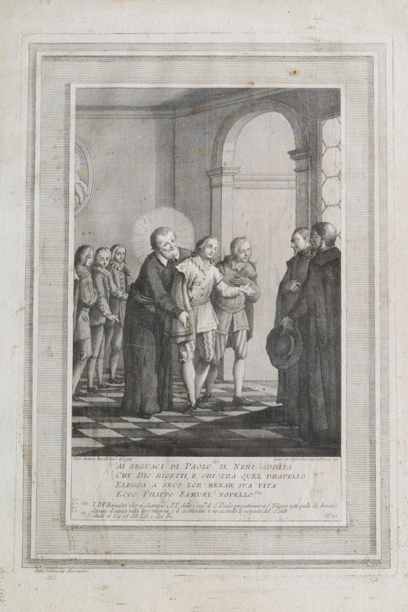 Alessandri I. (1791), San Filippo Neri e i padri barnabiti