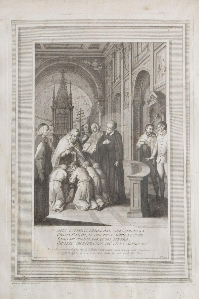 Alessandri I. (1791), San Filippo Neri converte quattro giovani ebrei