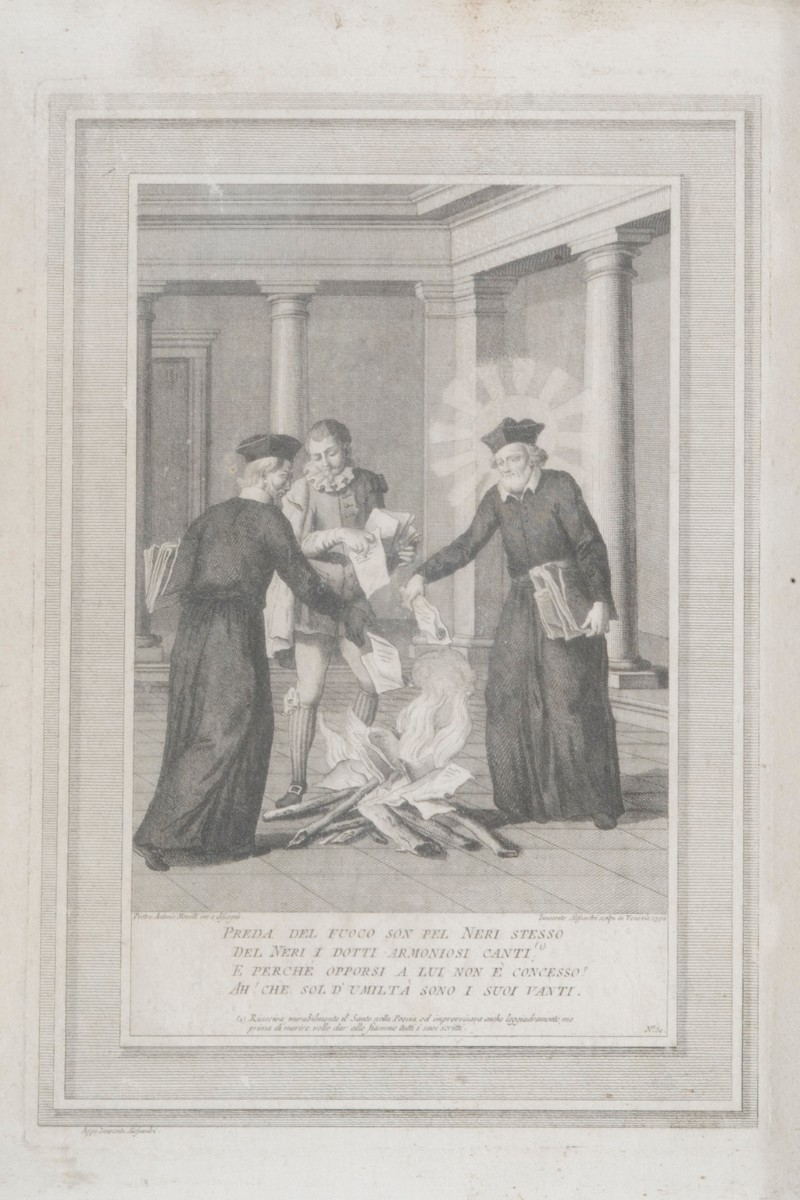 Alessandri I. (1792), San Filippo Neri brucia le sue poesie
