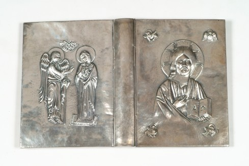 Bottega veneta sec. XX, Coperta di lezionario