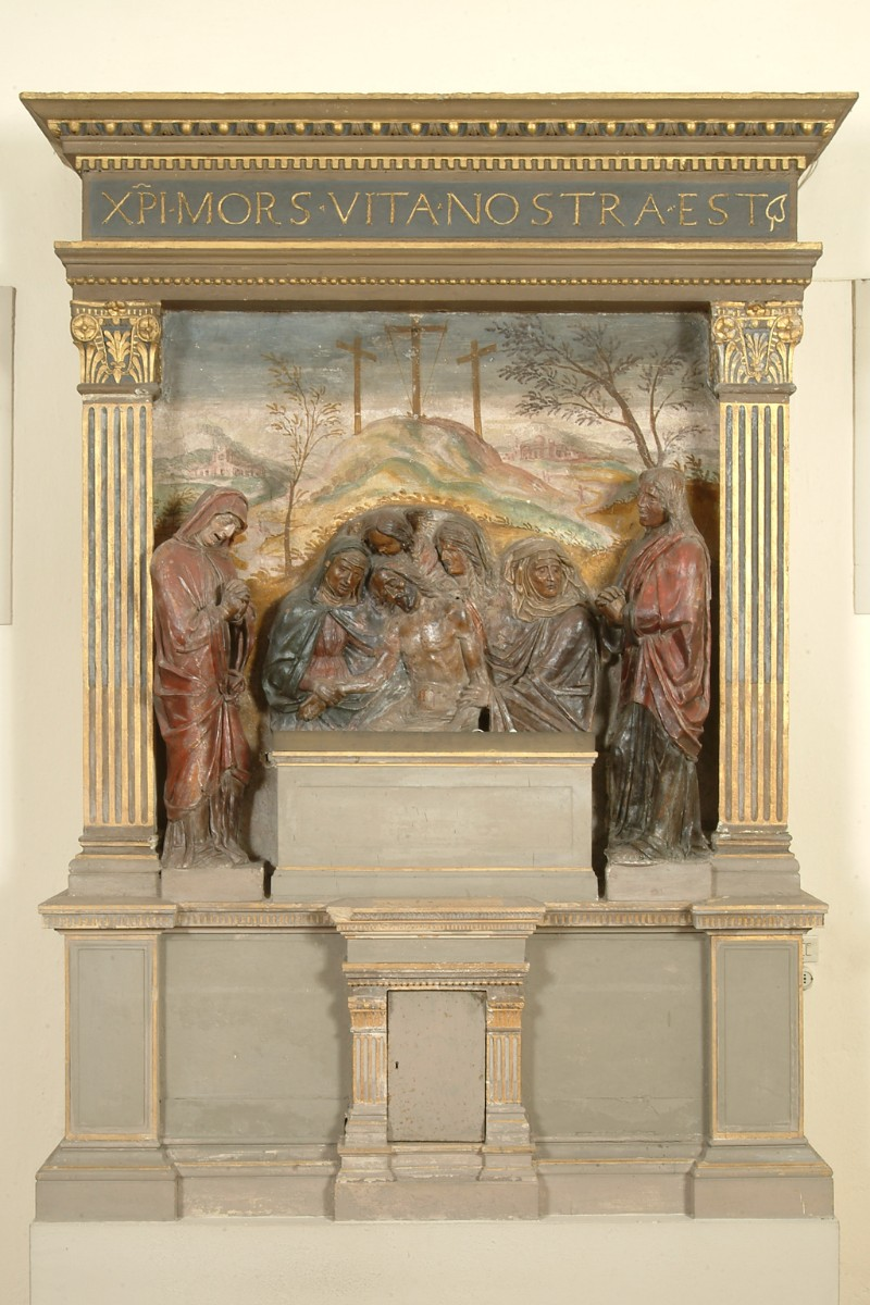 Bottega veneta sec. XV, Dossale d'altare