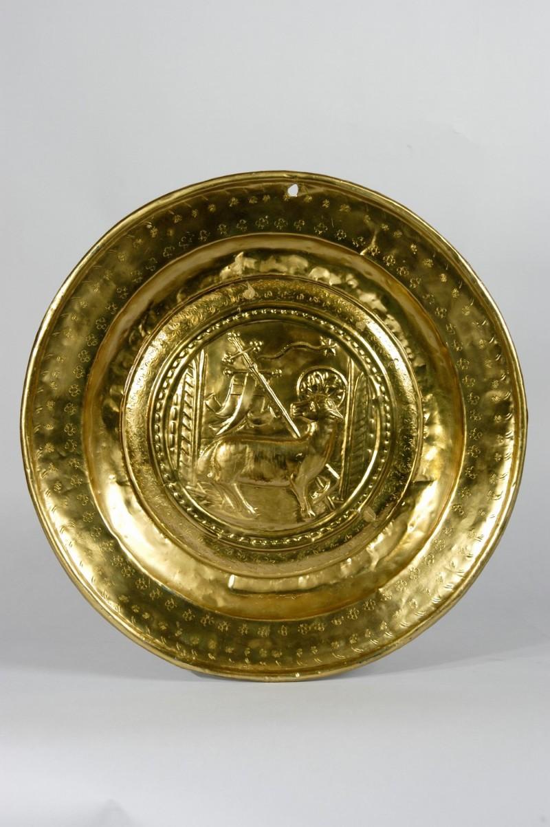 Bottega trentina secc. XVI-XVII, Piatto per elemosine