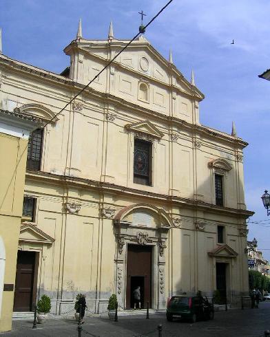 La facciata principale della cattedrale della Nativita' di Maria Vergine a Cassano allo Jonio
