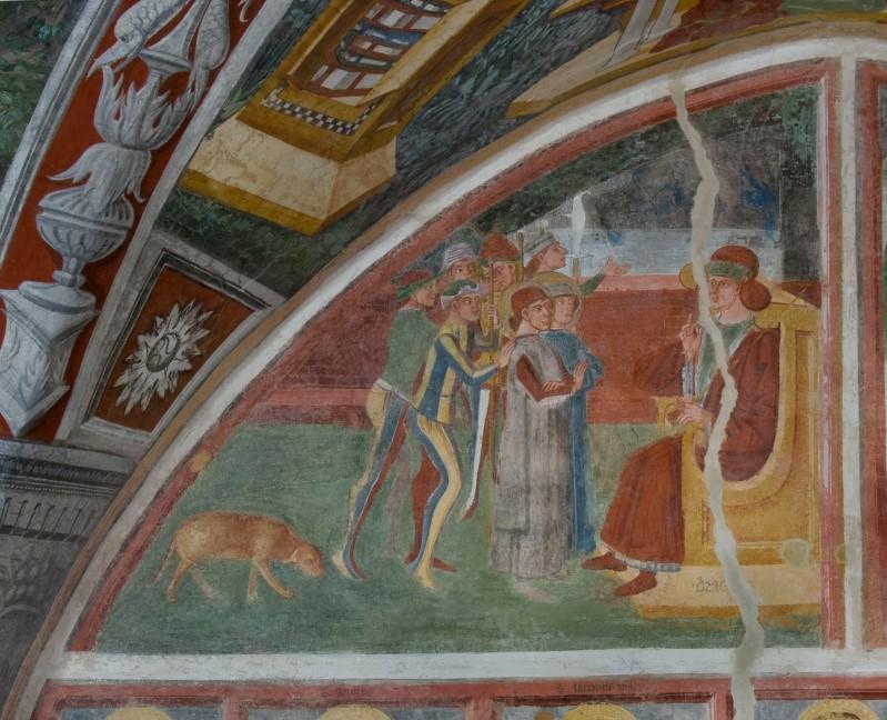 Baschenis C. (1496), S. Felice da Nola davanti al giudice
