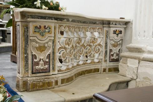 Marmoraio napoletano sec. XVIII, Balaustra del Santissimo Sacramento destra