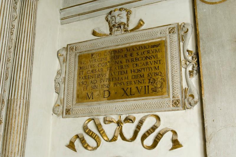Maestranze veneziane (1547), Lapide dedicatoria di Melio da Cortona 2/2