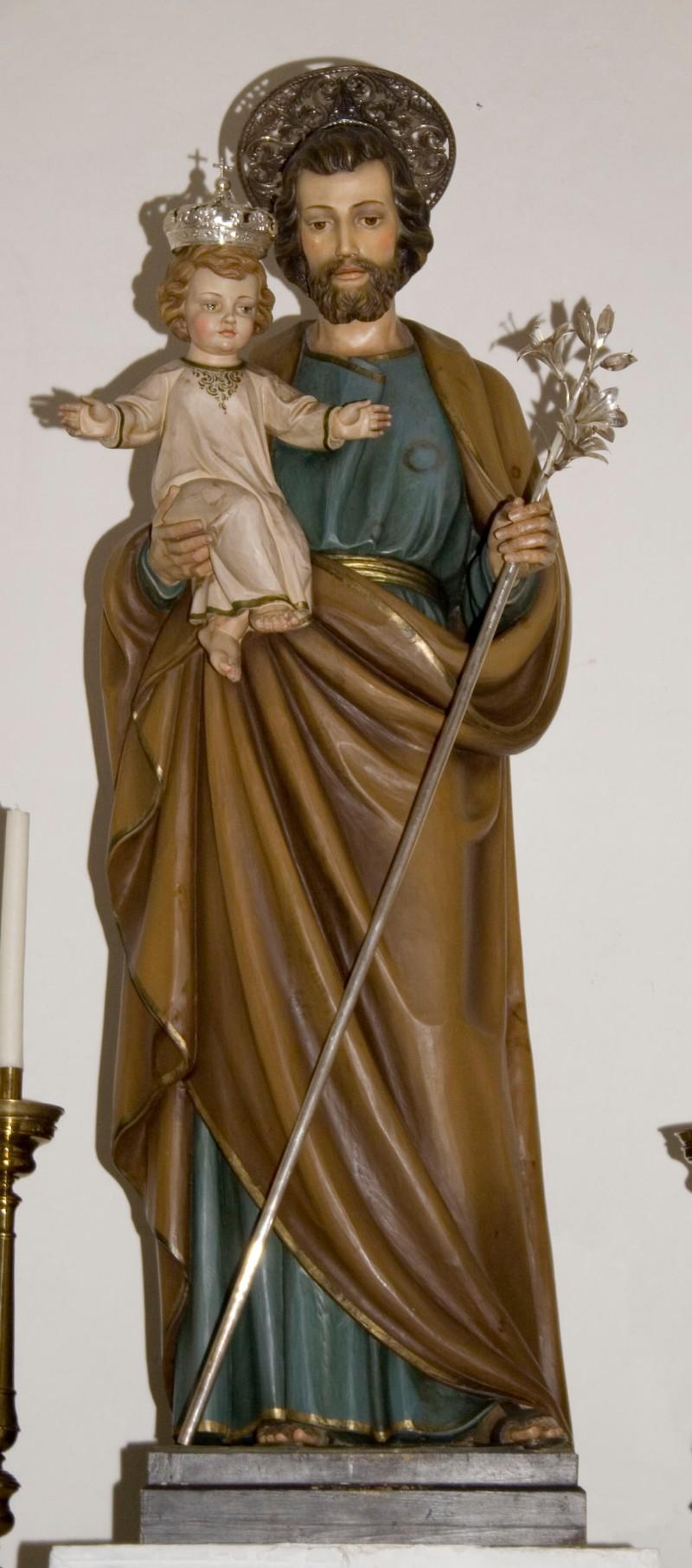 Ambito italiano sec. XX, San Giuseppe col Bambino