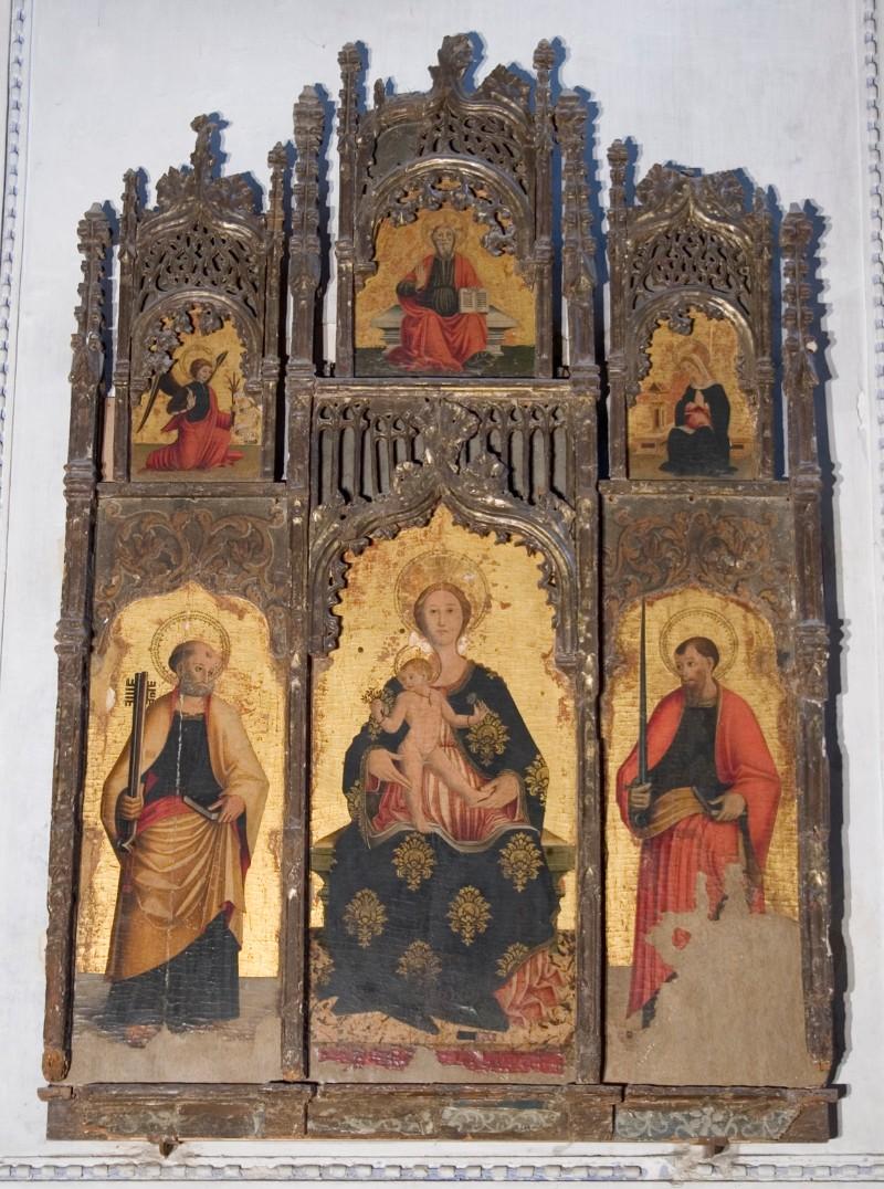 Ambito italiano sec. XV, Polittico della Madonna della Vittoria