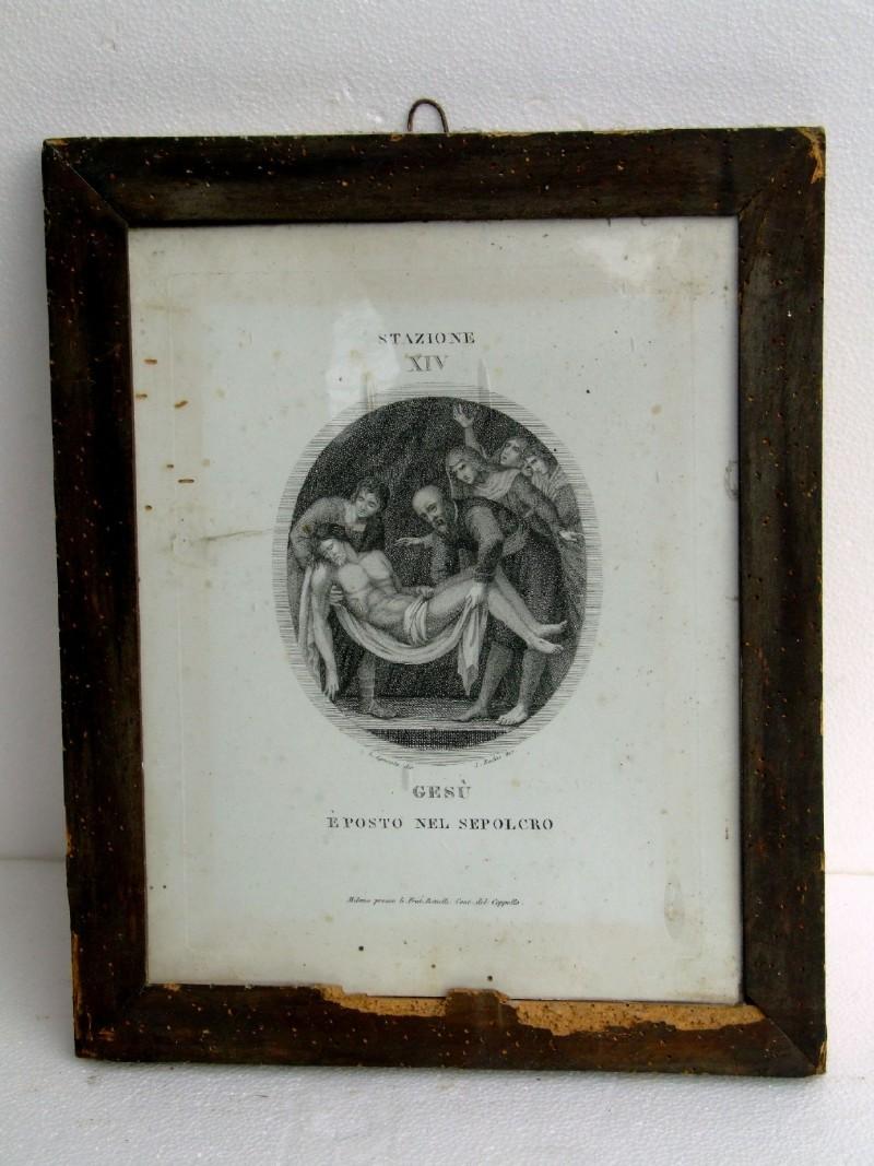 Agricola L. - Rados L. sec. XIX, Gesù Cristo deposto nel sepolcro