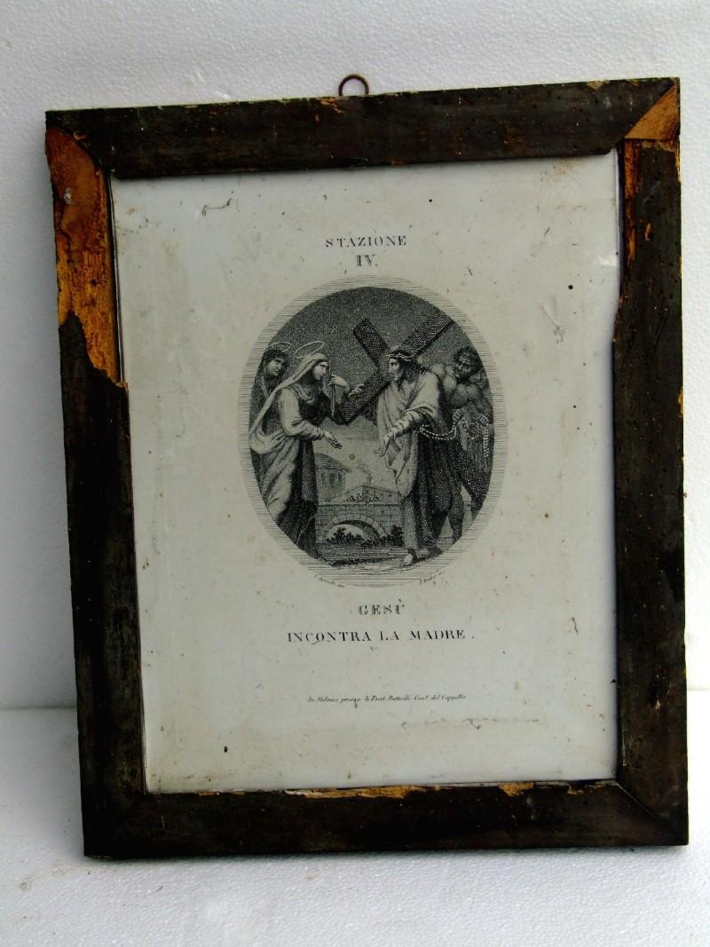 Agricola L. - Rados L. sec. XIX, Gesù incontra la Madonna e le pie donne