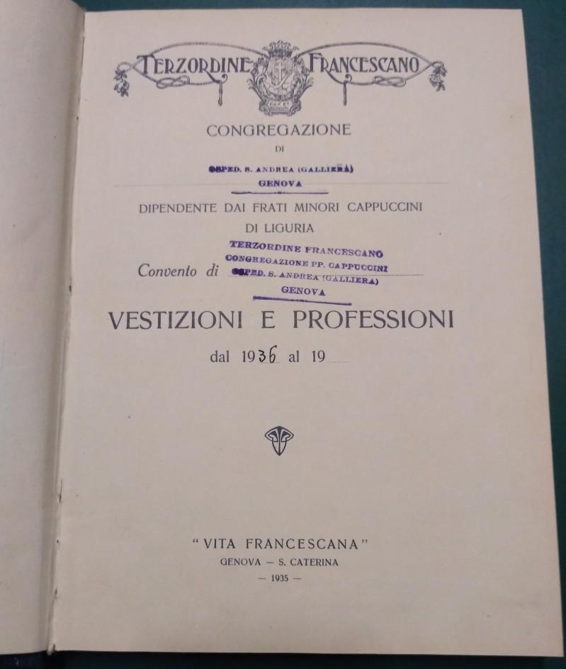 Fondo del Terz'Ordine Francescano dell'Ospedale Sant'Andrea Apostolo <Genova>