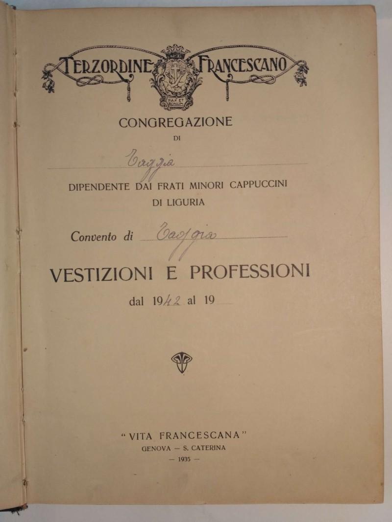 Fondo del Terz'Ordine Francescano del convento dei Frati Minori Cappuccini di Taggia <Taggia>