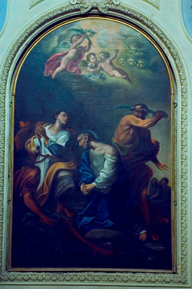 Scuola romana sec. XVIII, Martirio dei S.S. Pietro e Marcellino