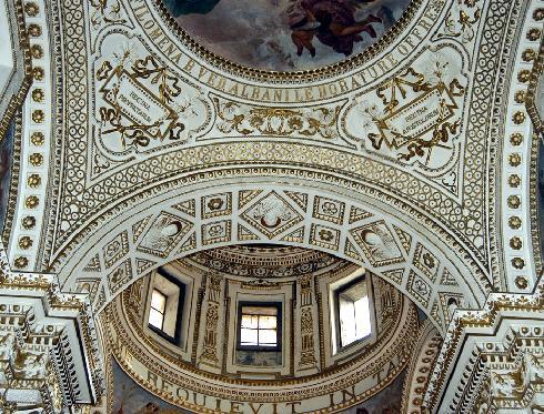 Particolare dei pennacchi della cupola
