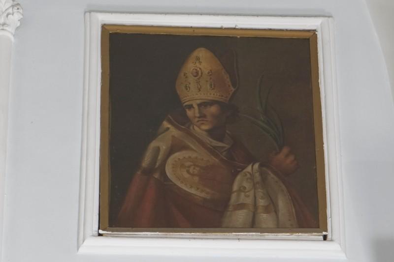 Ambito napoletano sec. XIX, San Gennaro in olio su tela
