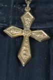 Bott. napoletana seconda metà sec. XIX, Croce pettorale in oro