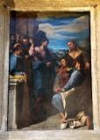 Ambito romano sec. XVIII, Dipinto con predica di Gesù agli apostoli