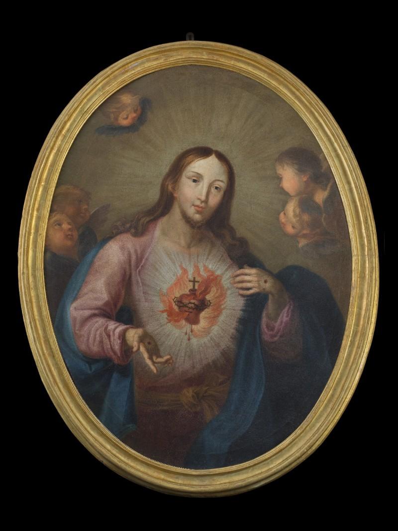 Ambito pisano sec. XVIII, Dipinto del Sacro Cuore di Gesù