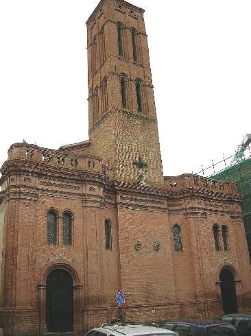 La facciata principale della Chiesa di Santa Maria Assunta a matelica