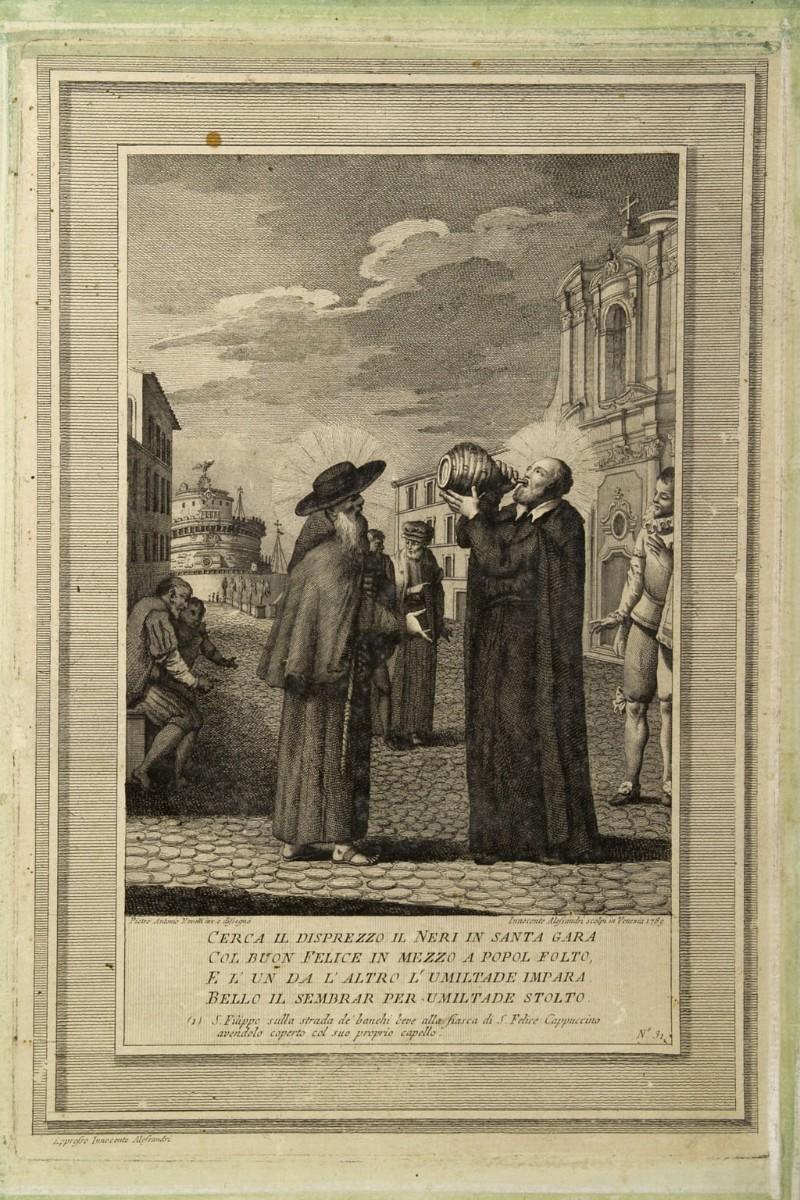 Alessandri I. (1789), Stampa con San Filippo Neri e San Felice di Cantalice