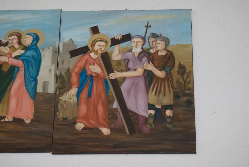 Adamo C. (1992), Gesù Cristo aiutato dal cireneo a portare la croce