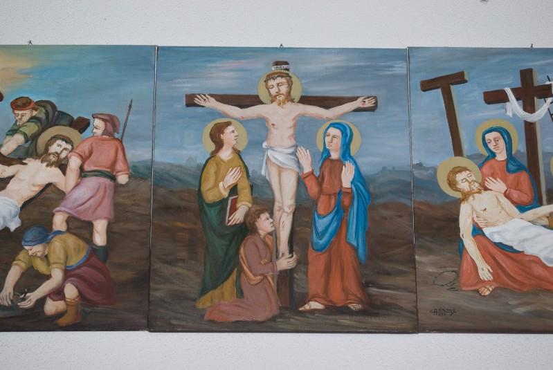Adamo C. (1992), Gesù Cristo morto in croce in olio su tavola