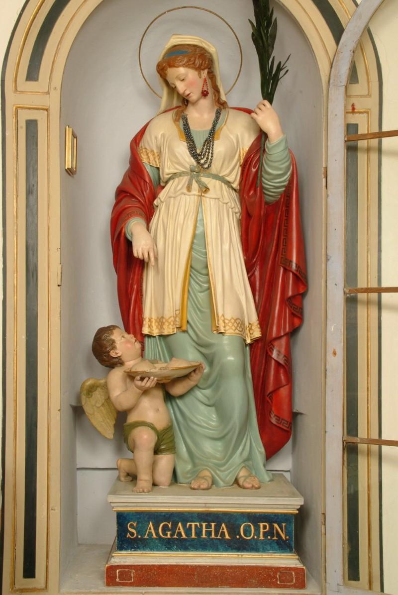 Graziani Ballanti G. B. secc. XVIII-XIX, Sant'Agata e un angioletto