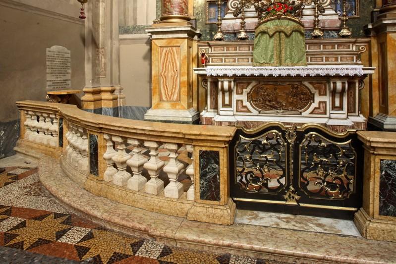 Maestranze emiliane sec. XVII, Balaustra del transetto sinistro
