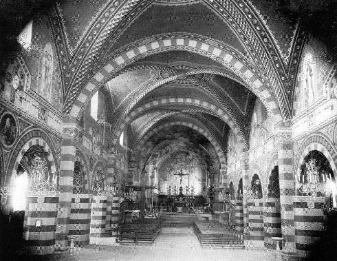 Il presbiterio nel 1901