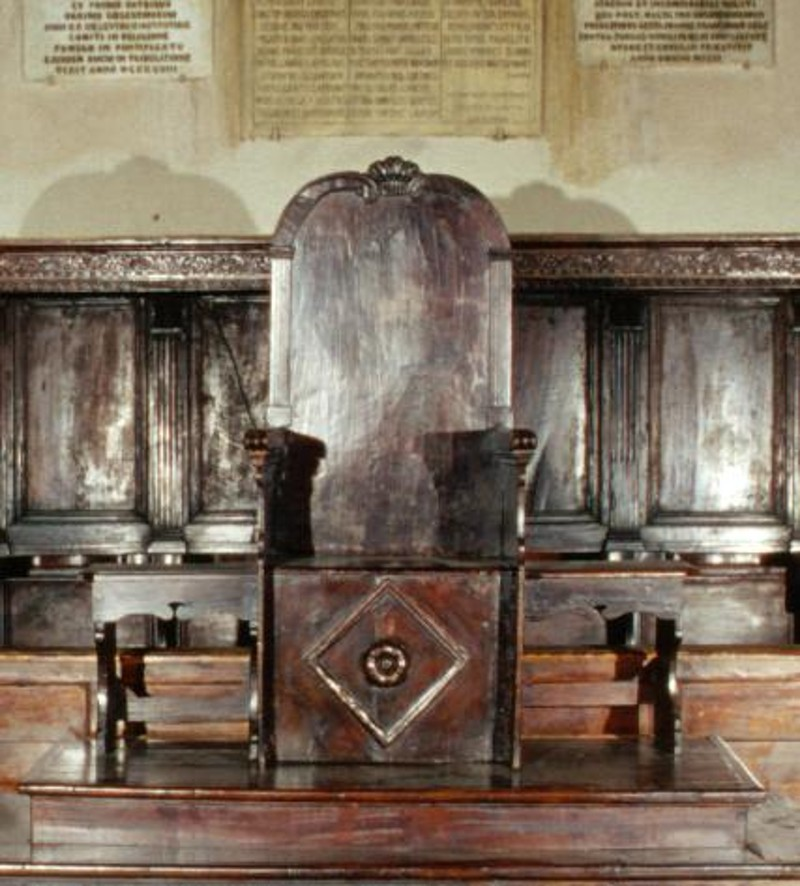 Bott. abruzzese sec. XVIII, Cattedra vescovile