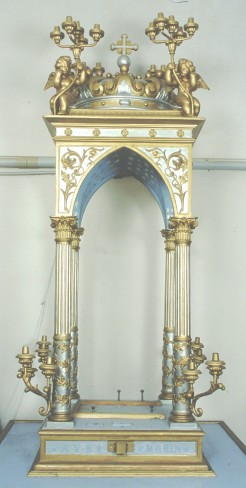 Bott. Italia centr. sec. XX, Tronetto con angeli
