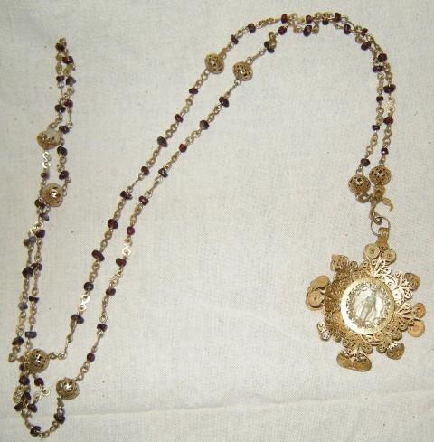 Ambito sardo sec. XIX, Corona del rosario in argento
