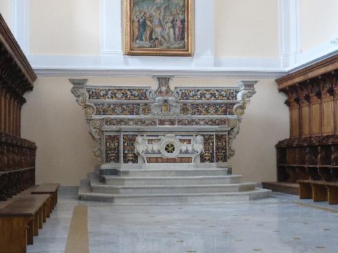 L'antico altare maggiore