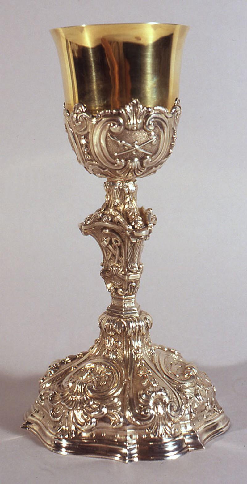 Bott. emiliana sec. XIX, Calice d'argento sbalzato