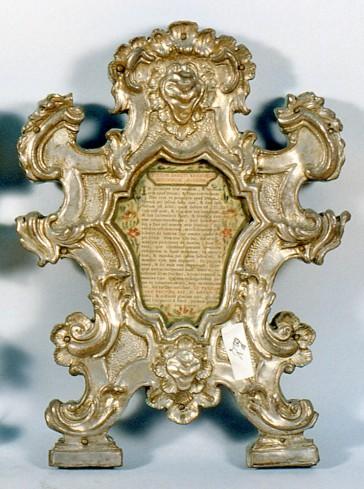 Bott. emiliana sec. XVIII, Cartegloria piccola in metallo 2/2