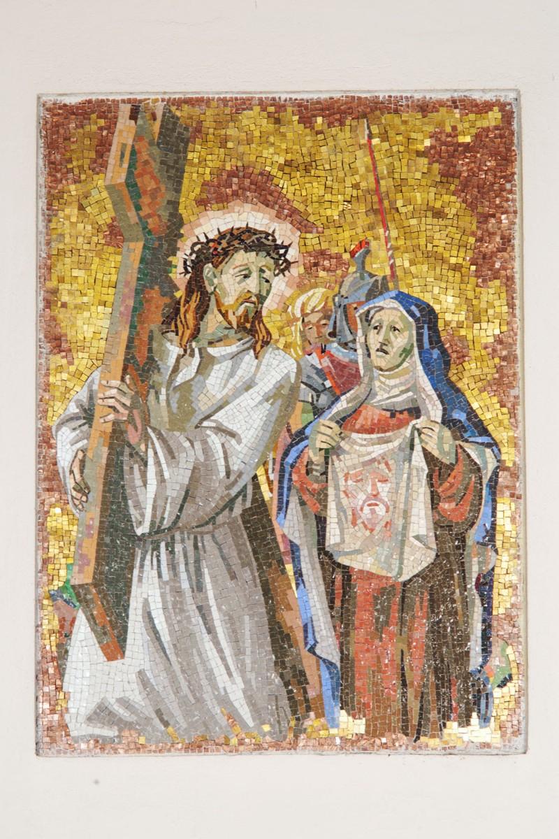 Pittino F. sec. XX, Gesù asciugato dalla Veronica