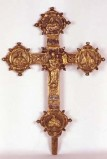 Bott. dell'Italia centrale sec. XVII, Croce processionale in bronzo