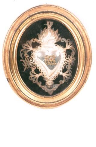 Bottega piemontese secc. XIX-XX, Ex voto con monogramma