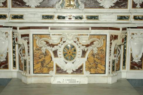 Marmoraro campano (1782), Paliotto della Madonna della Libera