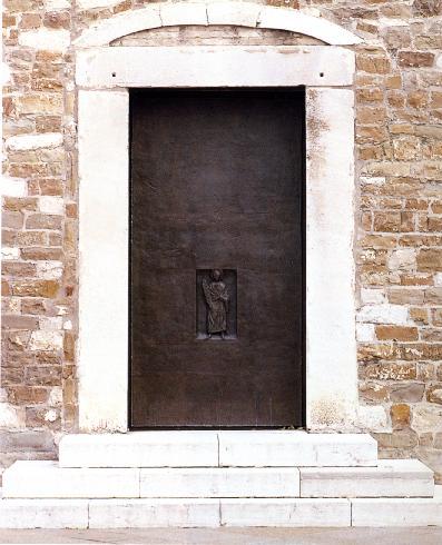 Porta laterale bronzea di S. Melchiorre (1990)