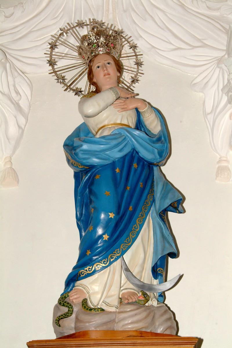 Bottega siciliana sec. XVIII, Statua della Madonna immacolata