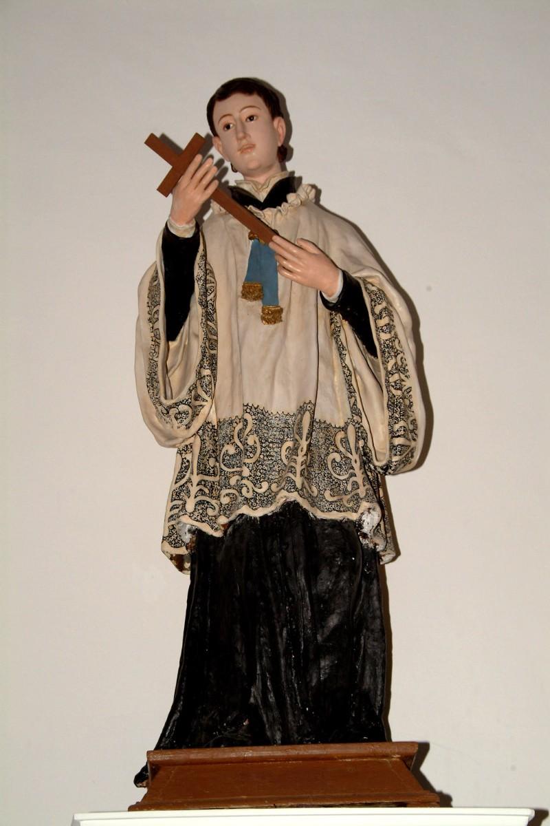 Bottega siciliana sec. XVIII, Statua di S. Luigi Gonzaga