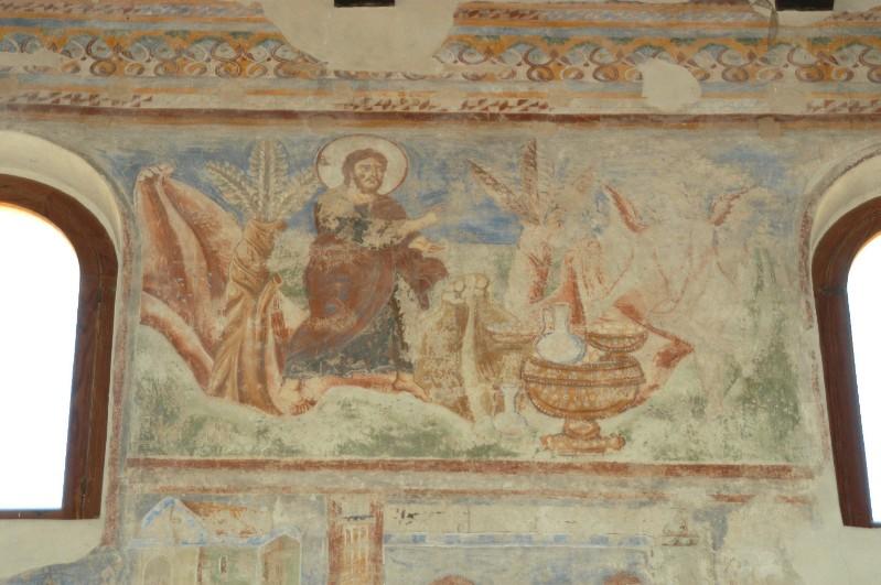 Scuola campana-cassinese sec. XI, Affresco con la prima tentazione il pane