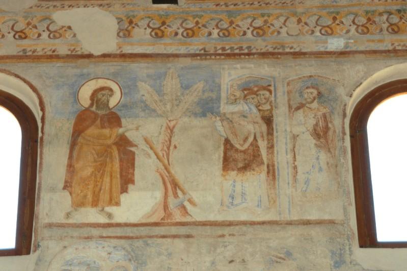 Scuola campana-cassinese sec. XI, Affresco con la predicazione di Giovanni