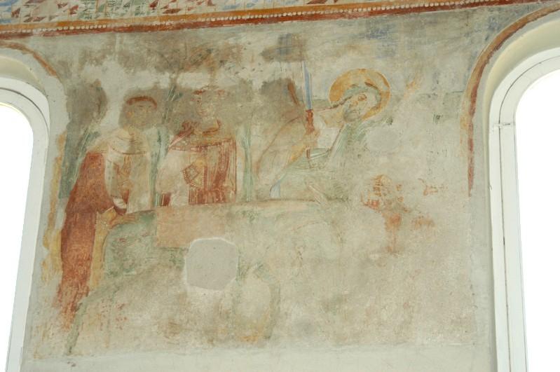 Scuola campana-cassinese sec. XI, Affresco con Abramo e Melchisedek