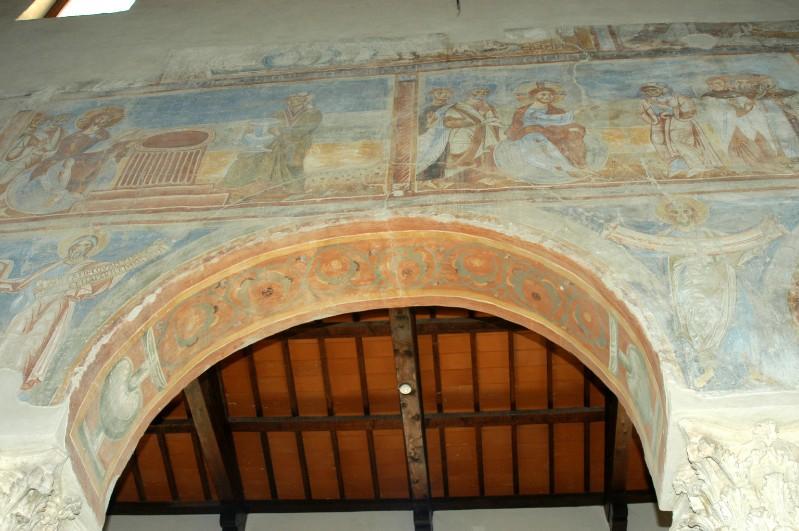 Scuola campano-cassinese sec. XI, Affresco decorativo 14/15