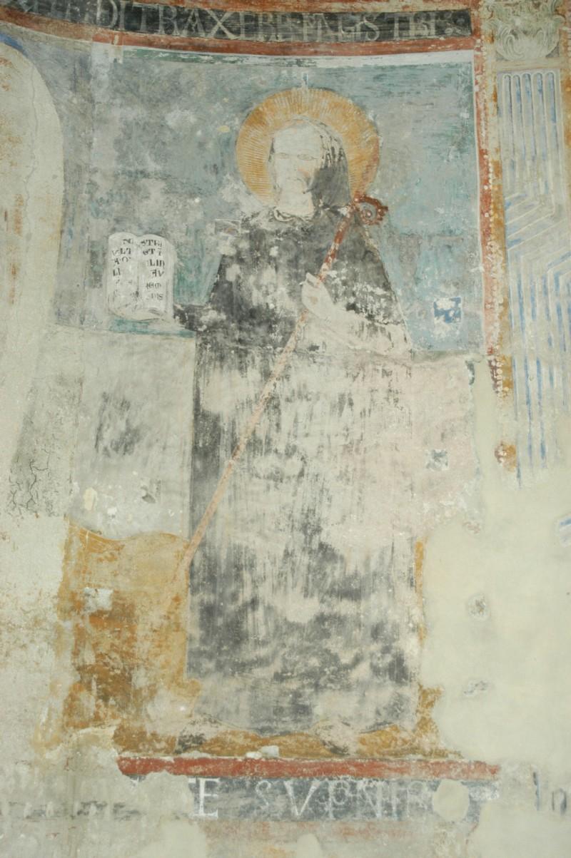 Scuola campano-cassinese sec. XI, Affresco con San Benedetto
