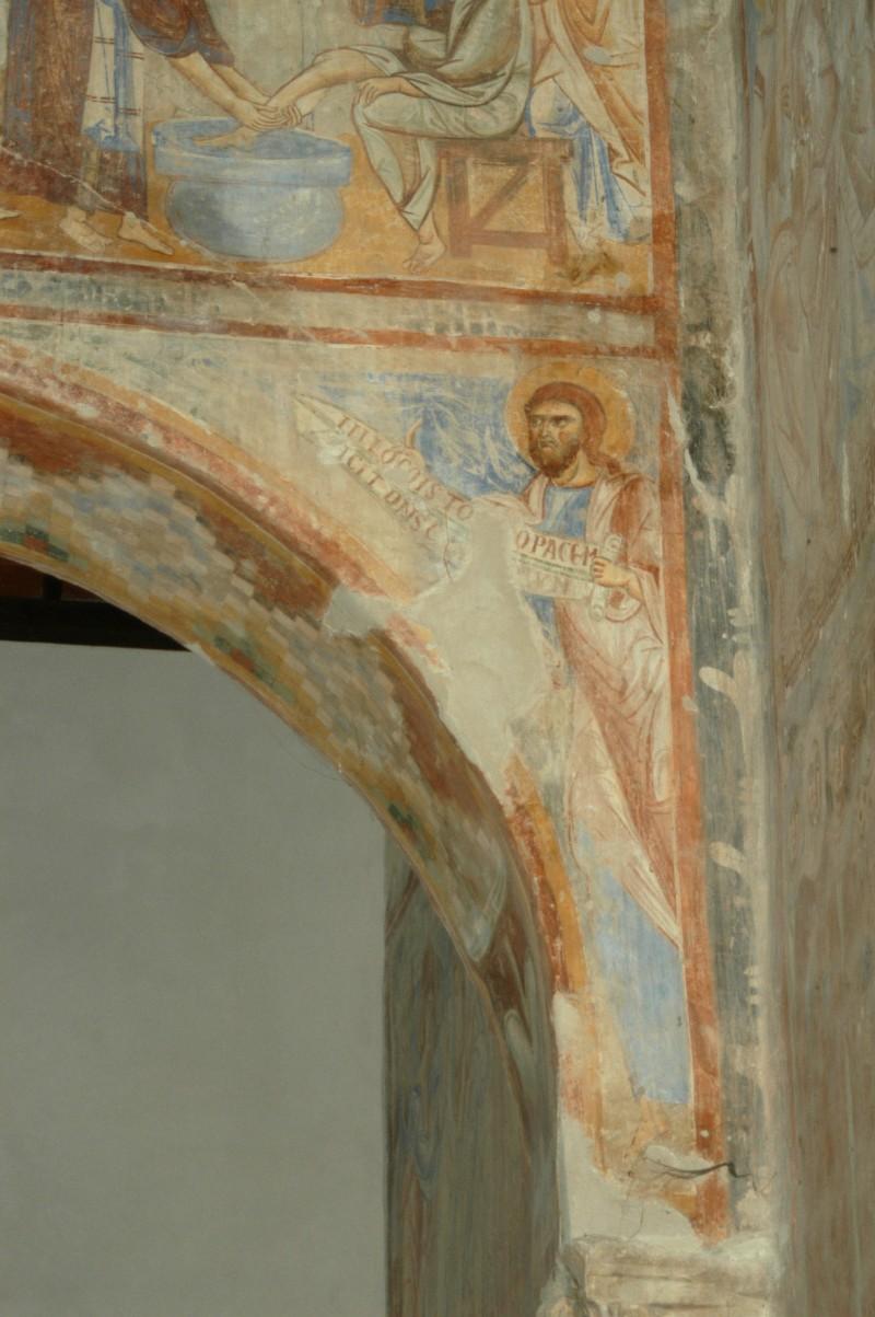 Scuola campana-cassinese sec. XI, Affresco con il profeta Isaia