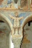 Scuola campana-cassinese sec. XI, Affresco con re Davide
